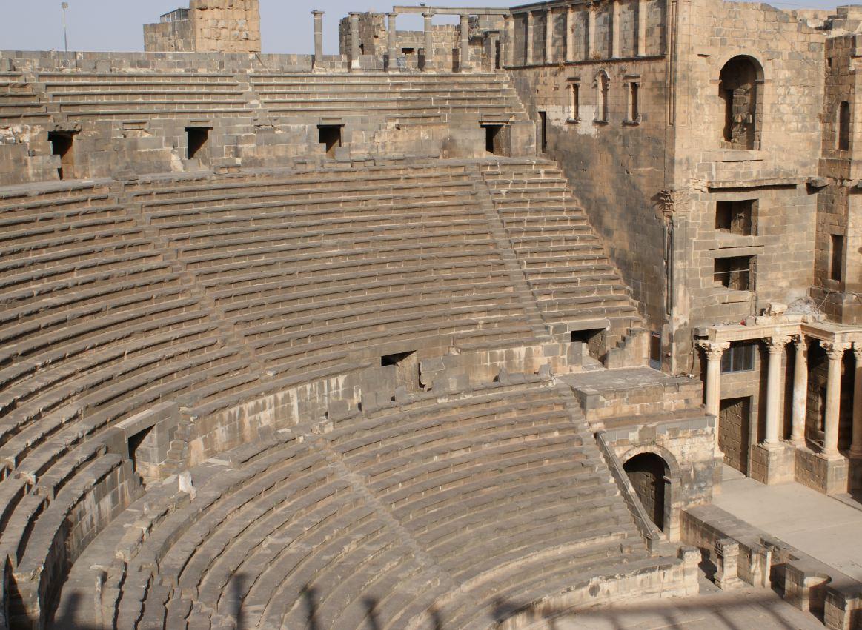 Palmira -Le gradinate del teatro romano - Siria