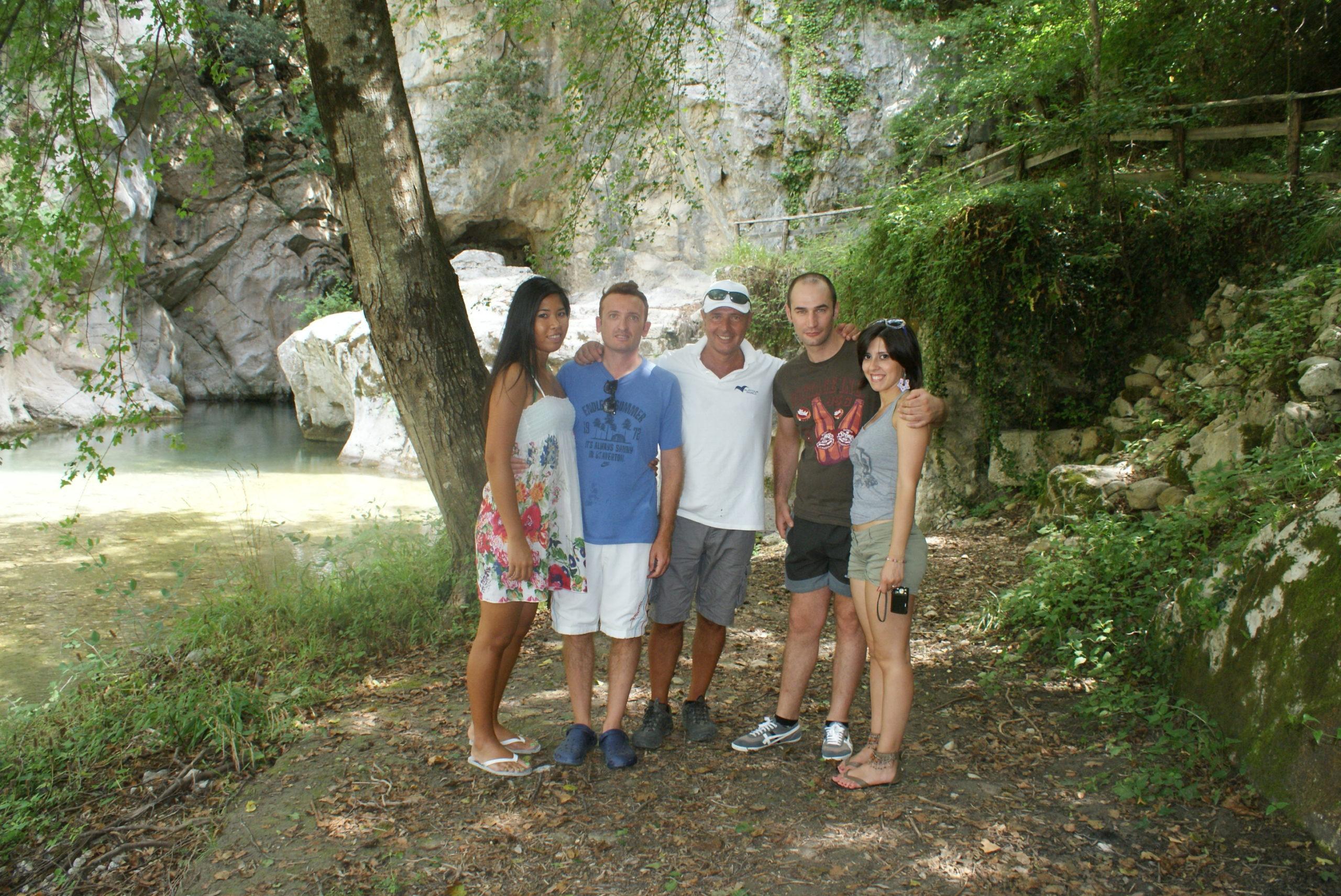 Sacco (Salerno) - Gruppo escursionisti conosciuti nel luogo