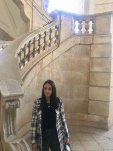 La scala elicoidale all'interno della Certosa